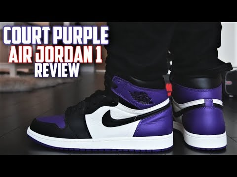 separation shoes 55e55 72346 Air Jordan 1 COURT PURPLE REVIEW and ON-FEET