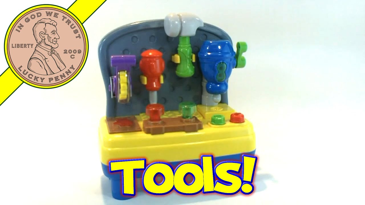 Toys R Us Bruin Mini Musical Light Up Work Bench Shop Toy Kids