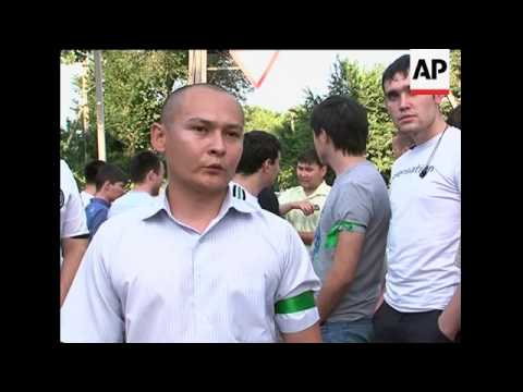 Patrols try to keep the peace in ethnic Uzbek area of capital