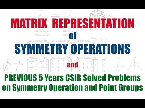 Matrix Representation of Symmetry Operations | Previous Years Problems Solved on Point Groups