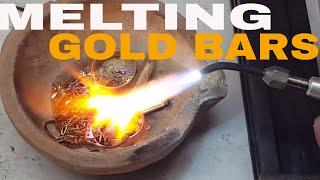 Melting #Gold Bars