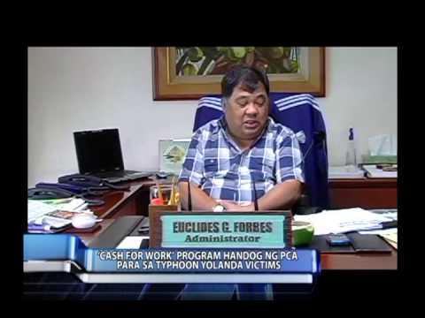 PCA, magkakaloob ng cash for work program para sa mga nasalanta ng bagyong Yolanda