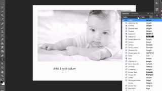 Photoshop ile yazı ve çerçeve ekleme