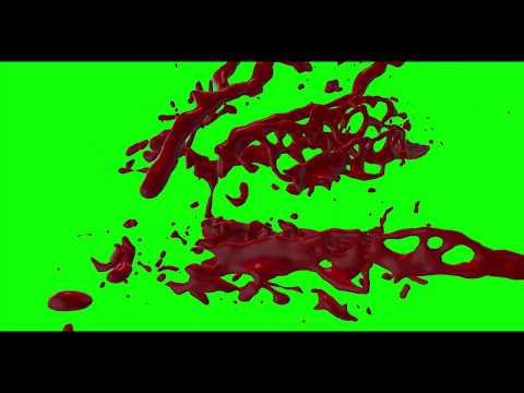 green screen blood no copyright || HD