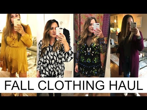 FALL CLOTHING HAUL! Free People, Ann Taylor, Express + More!