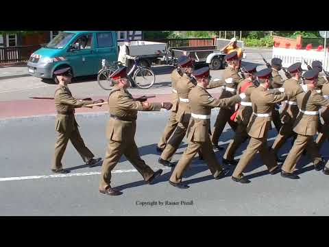 Fallingbostel Farewell Parade 15.05.2015 British Army Pipes and Drums Royal Scots Dragoon Guards