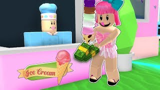 Roblox: EATING ALL THE ICE CREAM IN ROBLOX!!!