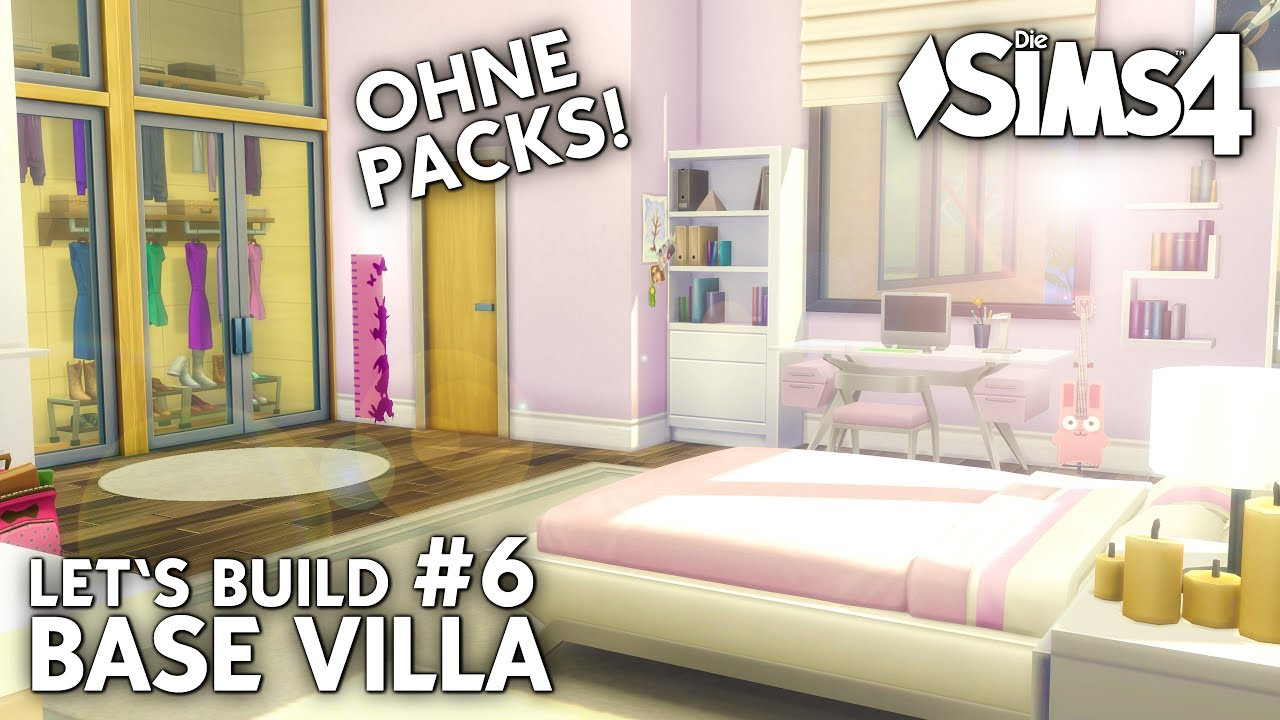 die sims 4 haus bauen ohne packs base villa 6 teen girl room deutsch youtube. Black Bedroom Furniture Sets. Home Design Ideas