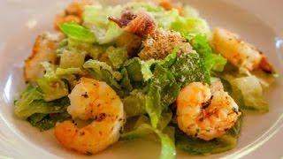 Shrimp Caesar Salad : Seafood Salad