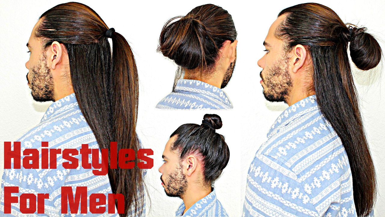 Really Long Hair Styles: Hairstyles For Men With Long Hair Super Quick & Easy Half