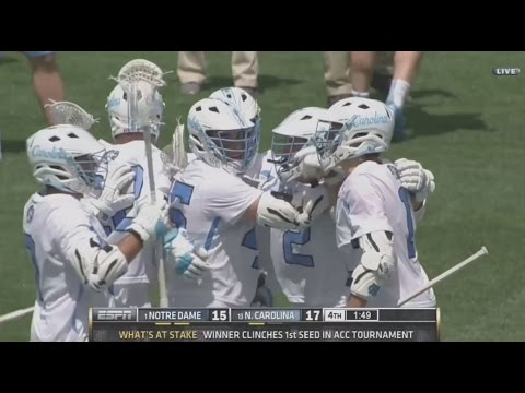 UNC Men's Lacrosse: Heels Take Down #1 Notre Dame, 17-15