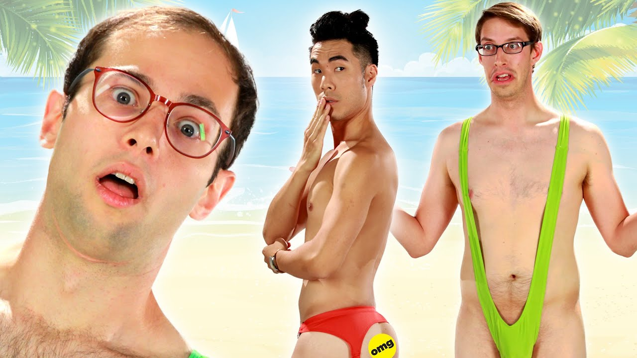 191cf35b8cc89 The Try Guys Try Extreme Swimsuits - YouTube