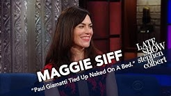 Maggie Siff Talks About Getting Naughty With Paul Giamatti