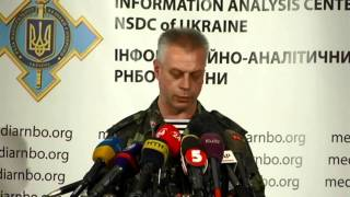 Andriy Lysenko. Ukraine Crisis Media Center, 8th Of August 2014