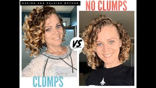 Clumps vs no clumps! Full CGM wash routine using the roping and pulsing method to get curl clumps.