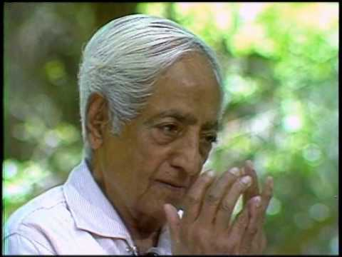 Can we live in ways that allow silence to come? | J. Krishnamurti
