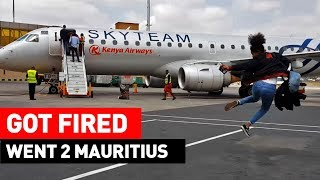 WE GOT FIRED! SO WE RAN AWAY TO MAURITIUS! | #NRGSTARS