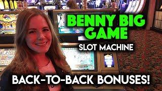 BACK 2 BACK BONUSES! Benny BIG Game Slot Machine!