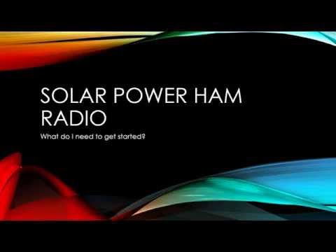 Ham Radio Solar Powered Shack