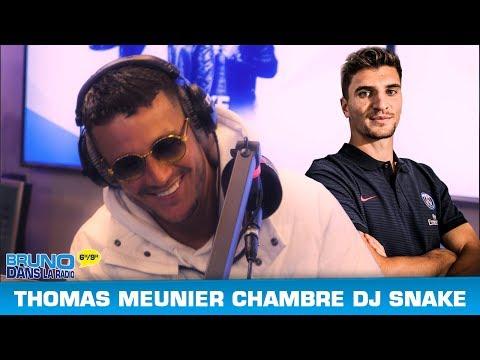 Un joueur du PSG chambre DJ Snake par surprise (16/11/2017) - Bruno dans la Radio