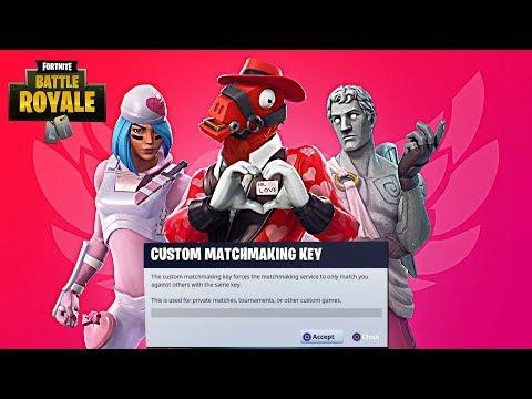 custom matchmaking on fortnite