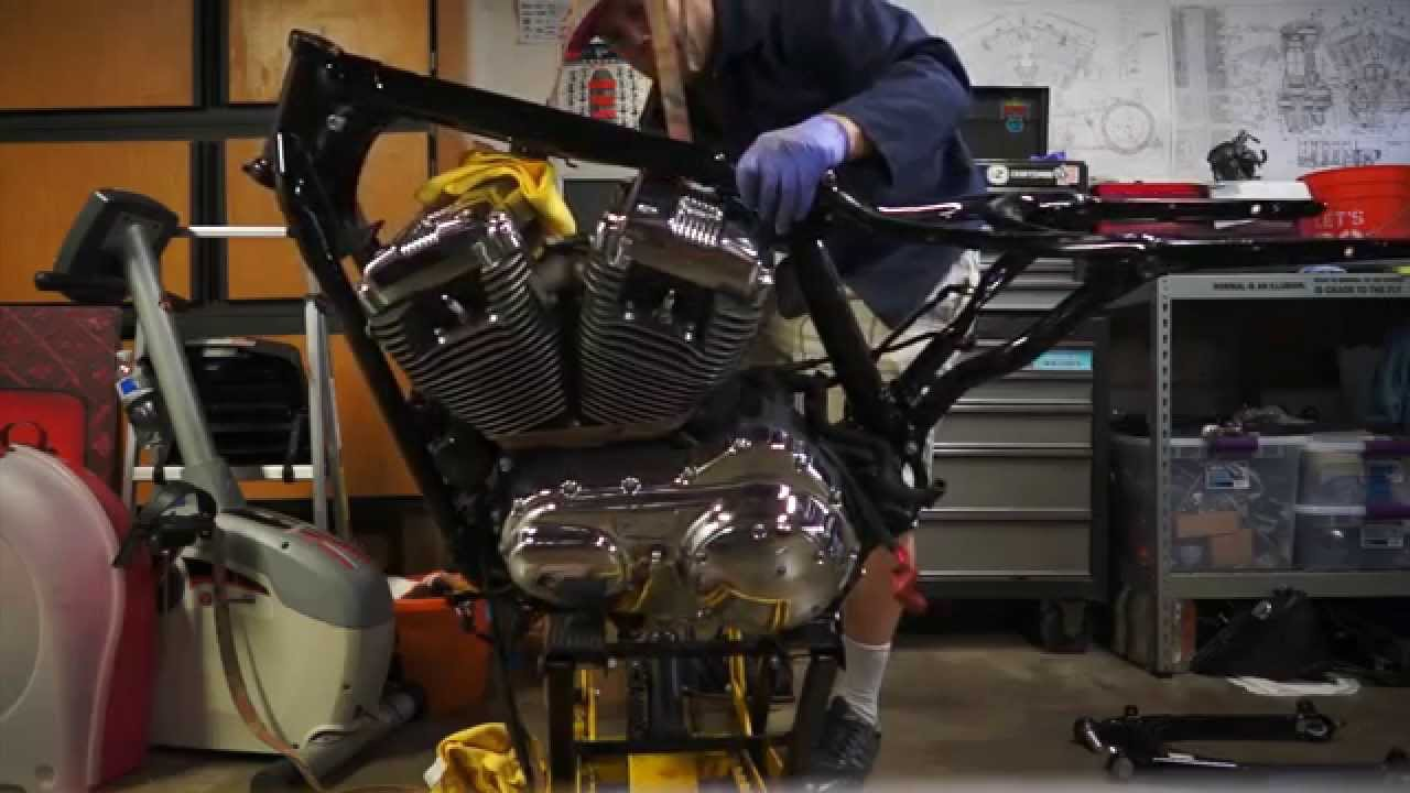 harley sportster engine removal youtube