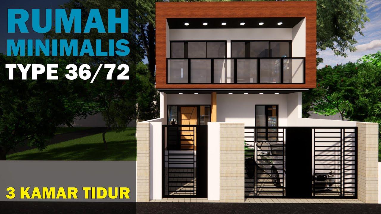 Desain Rumah Minimalis Type 36/72 2 Lantai - Desain Rumah ...