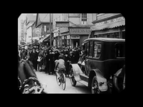 May 4, 1921 - Horse Tram Ride Through New Bedford, MA (Restored w/ added sound)