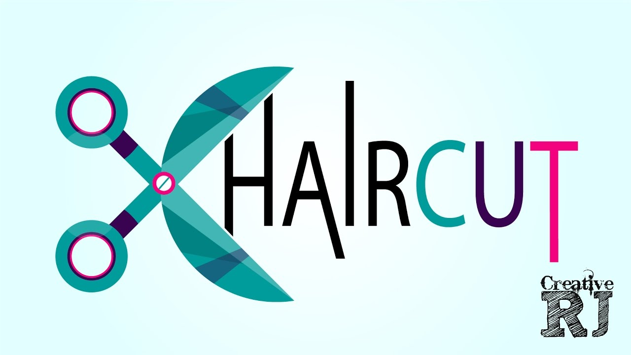 Free Download Haircut Logo Tutorial By Creativerj Youtube
