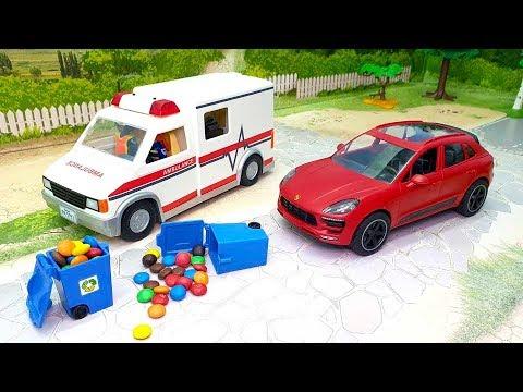 Мультфильмы для детей про игрушечные машинки - Мишкина Жадность. Машины мультики смотреть онлайн.