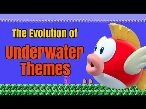 Every Super Mario Bros Underwater Theme | Evolution of Mario Music