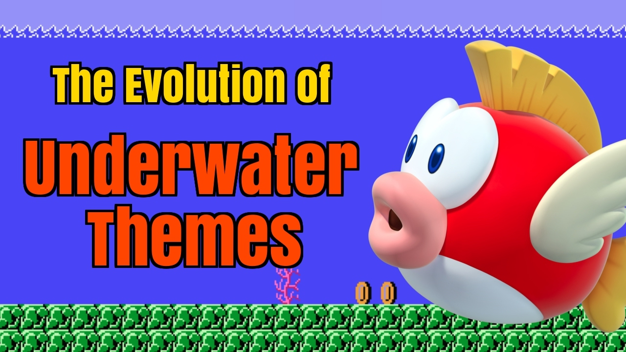 every super mario bros underwater theme evolution of mario music youtube. Black Bedroom Furniture Sets. Home Design Ideas