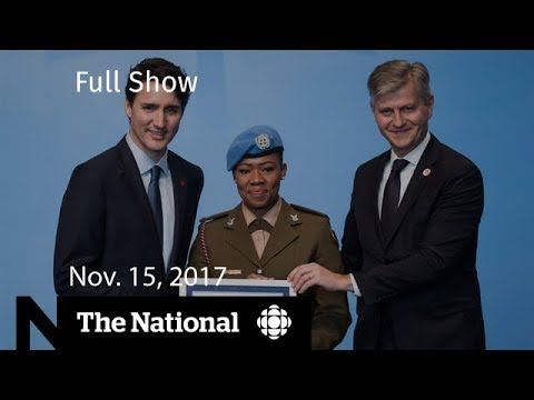 The National for Wednesday November 15, 2017 - Peacekeeping, coup, opioid crisis