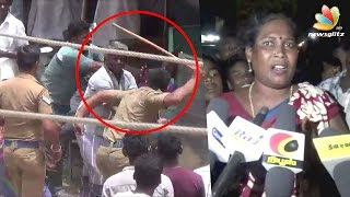 Police Brutally Attacked a Family in Public Place at Chengam in Tiruvannamalai
