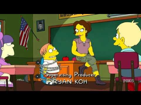 Bart's new teacher