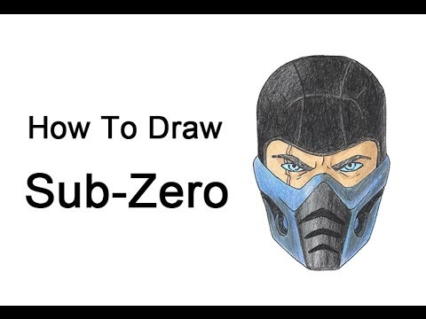 How to Draw Sub-Zero from Mortal Kombat - YouTube