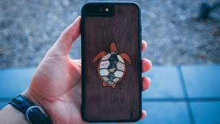 Carved Traveler Wood Case - Turtle Inlay for iPhone 8 Plus Review
