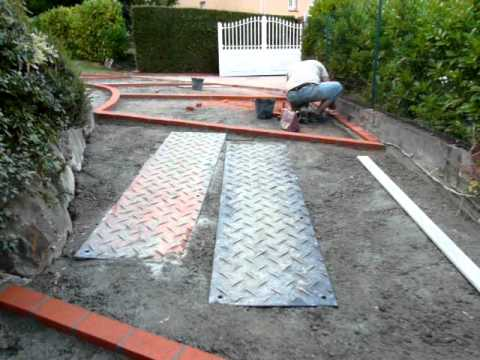 B ton d sactiv suite phase1 youtube - Comment faire une descente de garage en beton ...