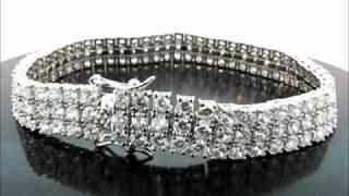 "8"" 3 Rows Iced Out CZ Pharaoh Bracelet(BRCZ-0309GR) Thumbnail"