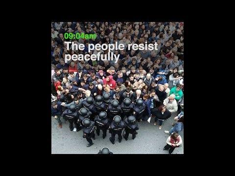 Col·legi Verd: Spanish police attack polling station 1st October