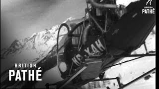 Snow Stranded Tourists Evacuated By Helicopter (1955)