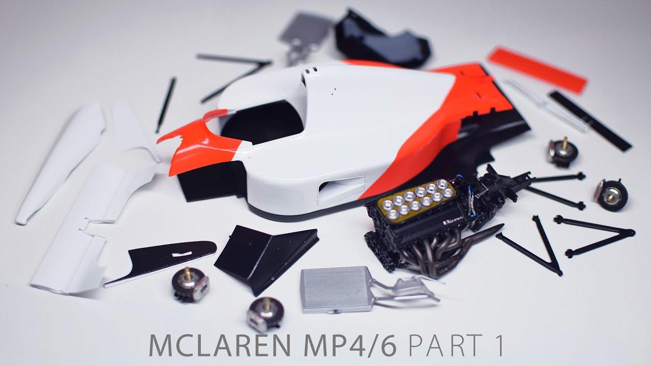 Building Senna's MP4/6 PART 1 McLaren Fujimi 1/20 F1 Scale Model