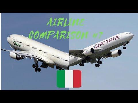Airline Comparison #6 | Alitalia Vs Air Italy | Luxury Travel