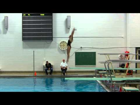 Michaela Sliney breaks the HHS diving record