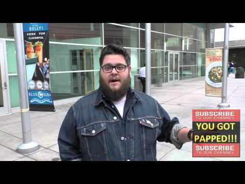 Charley Koontz star of CSI Cyber talks about Mother's Day gifts while leaving ArcLight Theatre in Ho