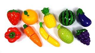 다양한 과일 채소 장난감으로 영어 이름 맞추기 놀이와 1부터 10까지 영어 숫자놀이