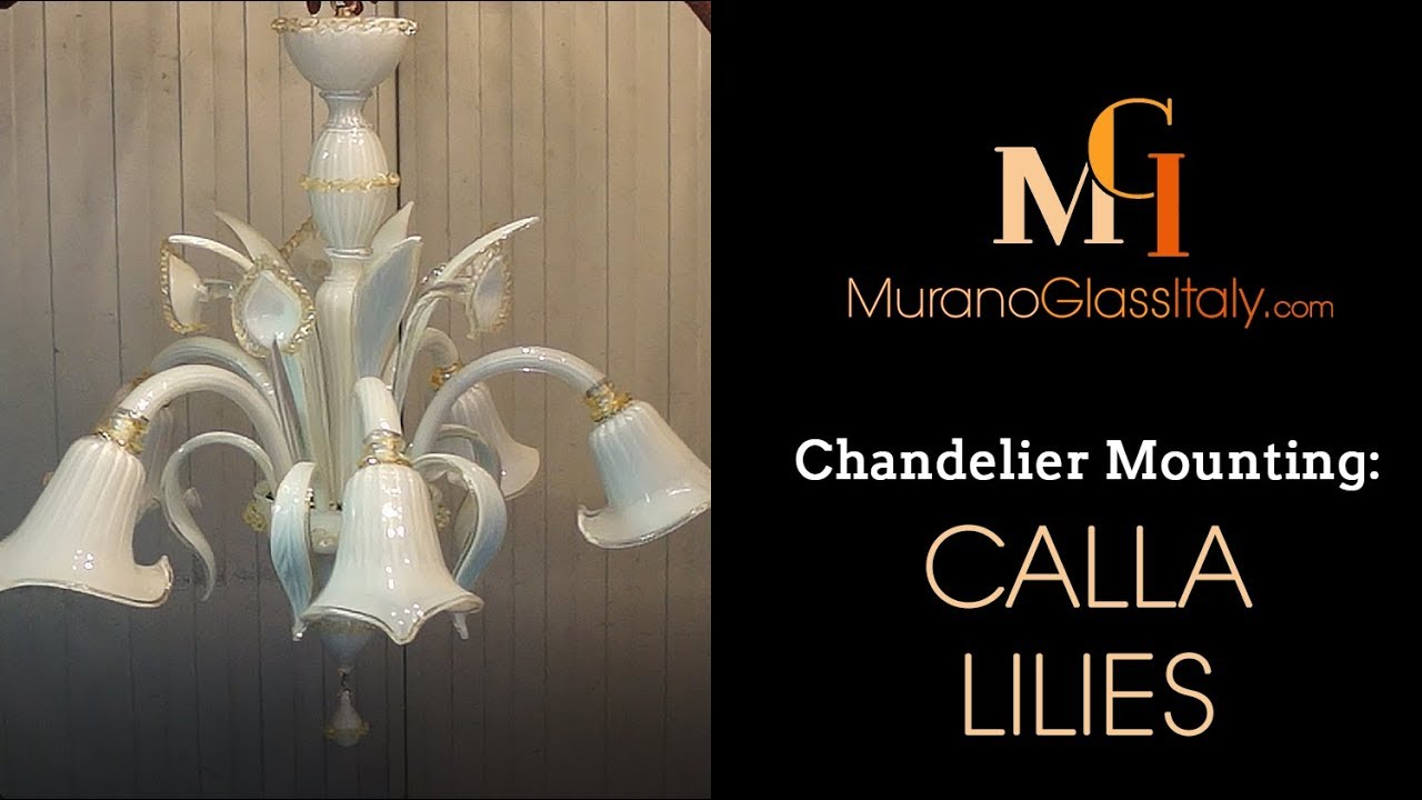 Chandelier Installation Instructions   How To Assemble A Chandelier   Calla  Lilies Chandelier