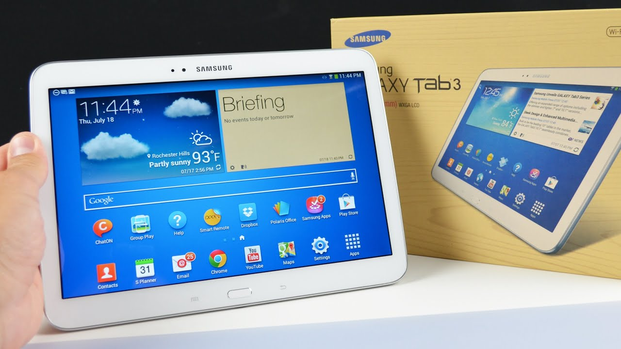 Grote Tablet Samsung Galaxy Tab 3 10 1 Unboxing Review