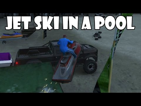 Let's Play GTA V: Jet Ski in a Pool