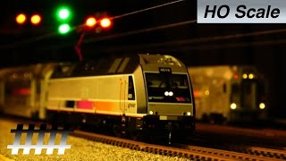 Atlas HO Scale New Jersey Transit ALP-45DP with Multi-Level Cars Model Train Railfanning Review